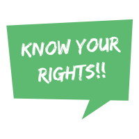 Know Your Rights!! - green
