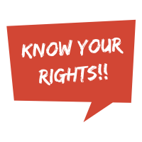Know Your Rights!! - red